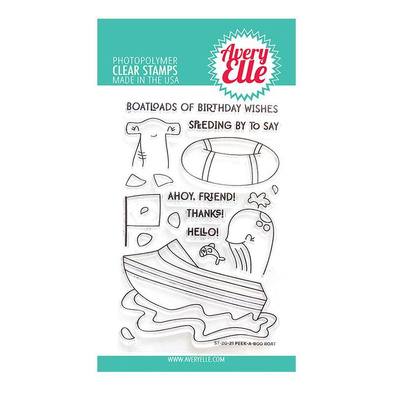Avery Elle Clear Stamps Peek-A-Boo Boat