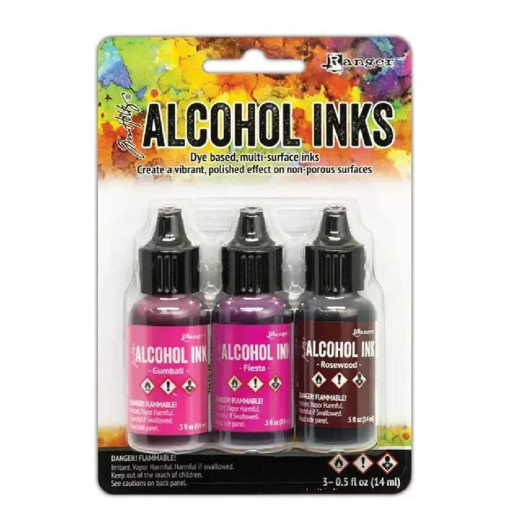 Tim Holtz Alcohol Ink 3pc Pink Red Specturm