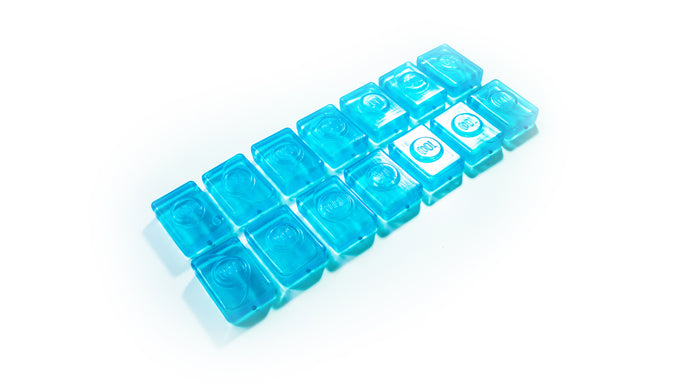 Neck cooler ice cube refill for cooling wrap