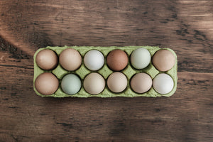 dozen farm fresh colorful eggs