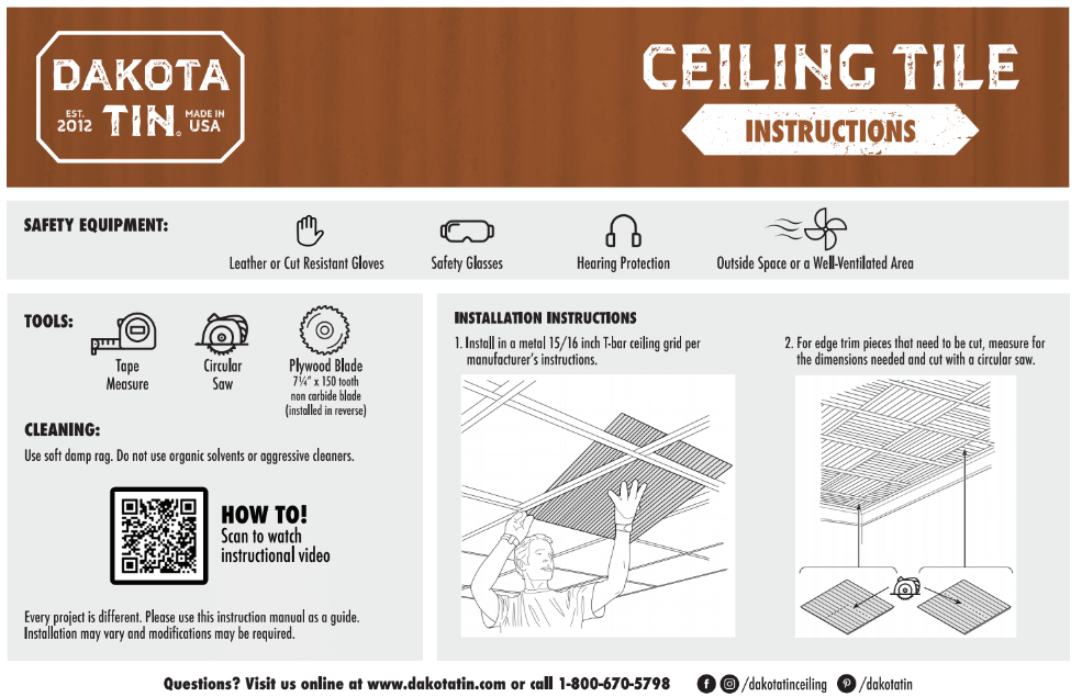 tin metal ceiling tile installation