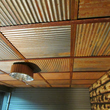 rustic corrugated metal ceiling tiles