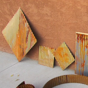 Corrugated Decorative Project Squares