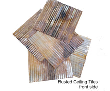 Corrugated Metal Ceiling Tiles - Blow Out Sale -