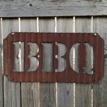 Corrugated Steel BBQ Sign 11in x 23in