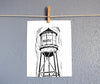 8x10 Marfa water tower relief print