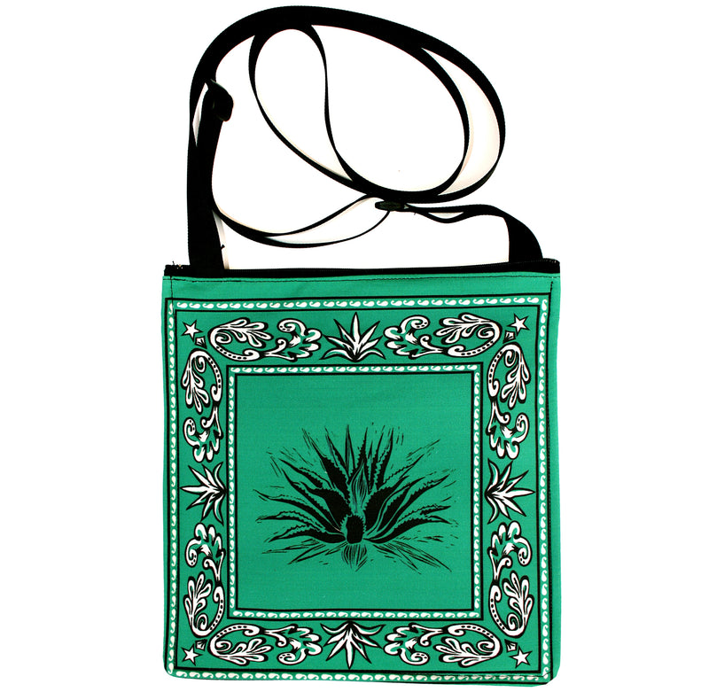 Bandana bag: agave on green