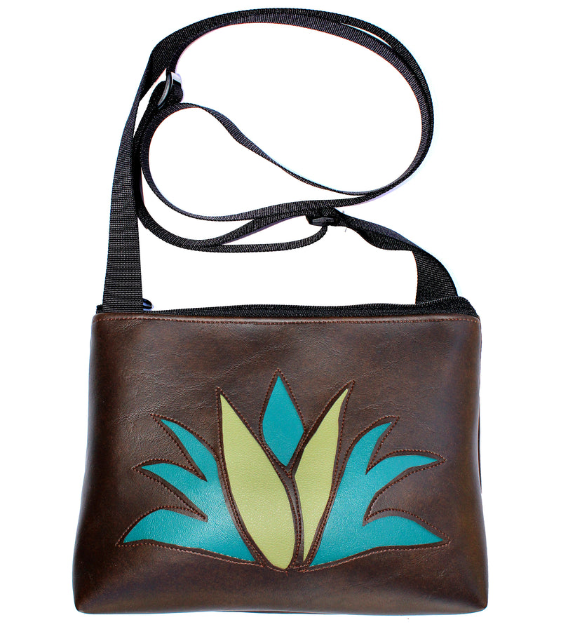 Agave on all brown sm crossbody