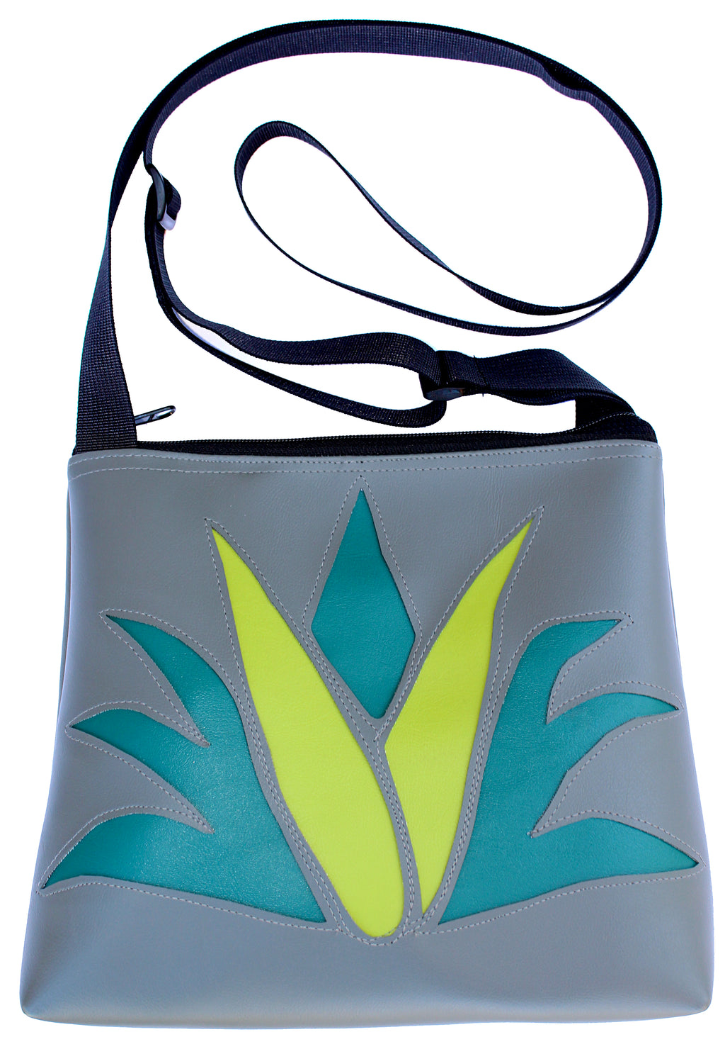 Agave on Grey mid-size crossbody