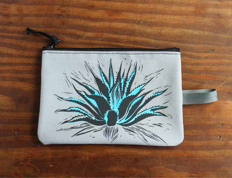 Blue Agave zipper bag