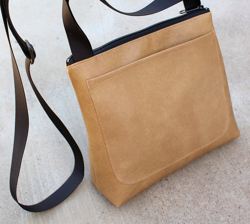 Diamond Back on tan mid-size crossbody