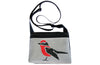Bird on grey crossbody purse