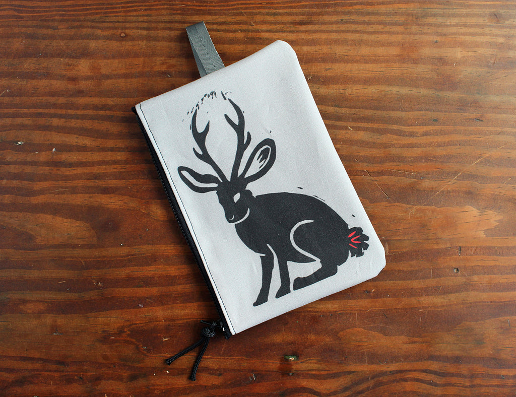 Jackalope zipper bag