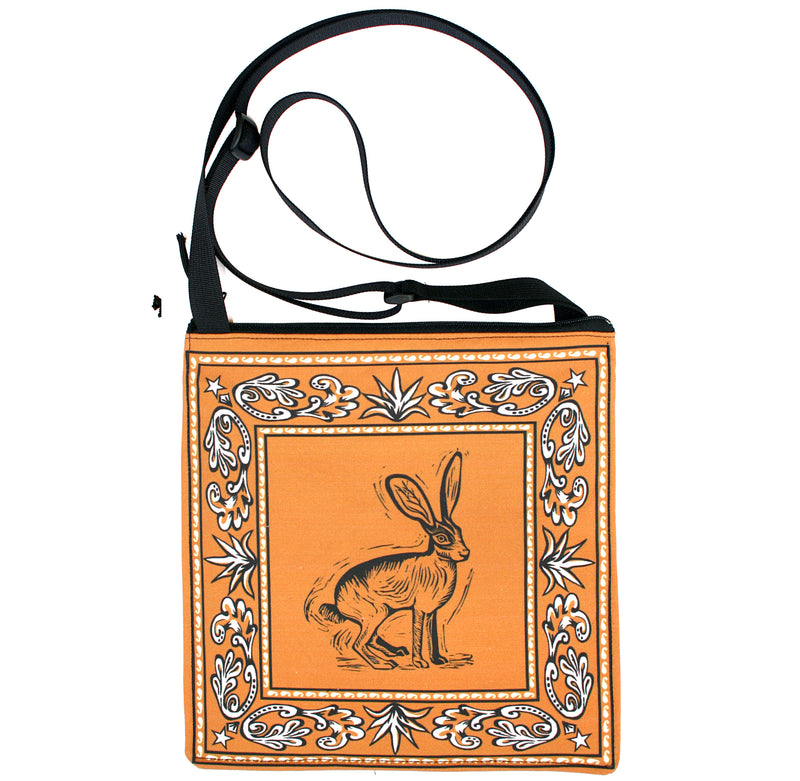 Bandana bag: Jackrabbit on gold