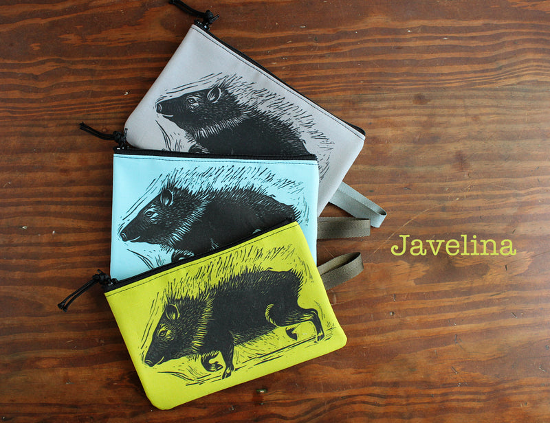 Javelina zipper bag