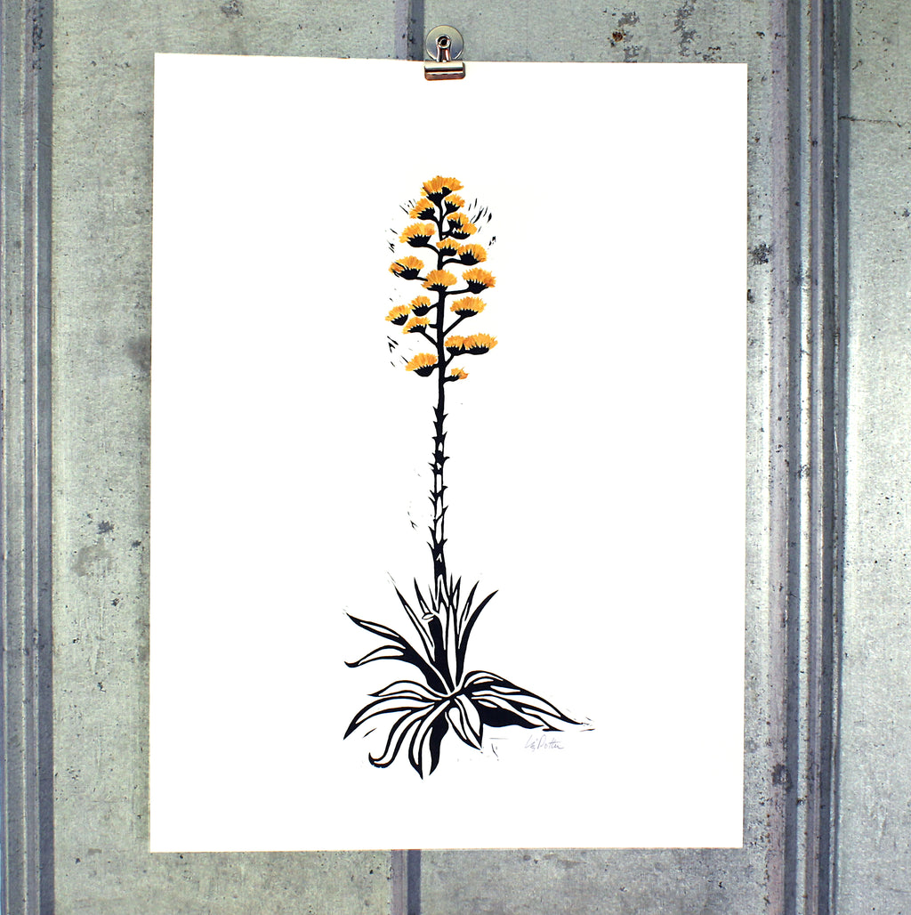 Large Century Plant (gold) on 18x24 paper