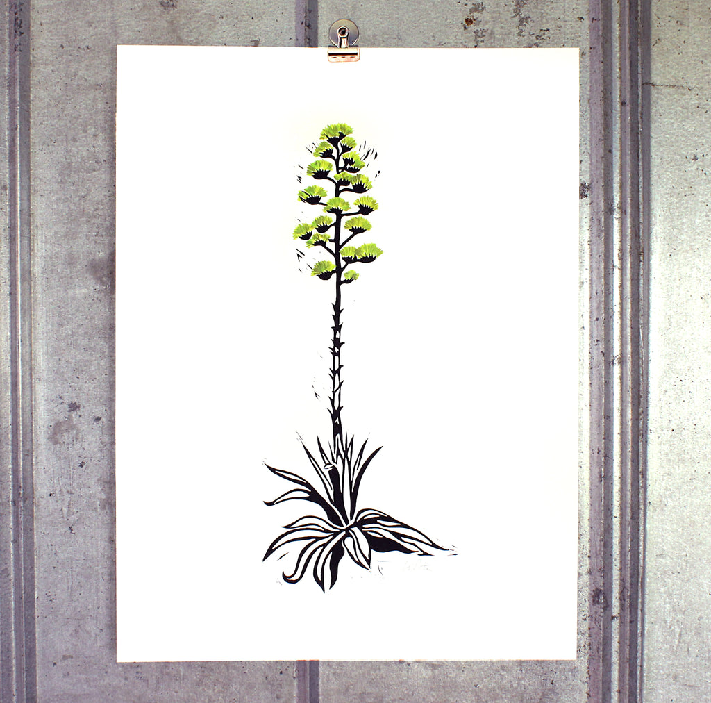 Large Century Plant (green) on 18x24 paper