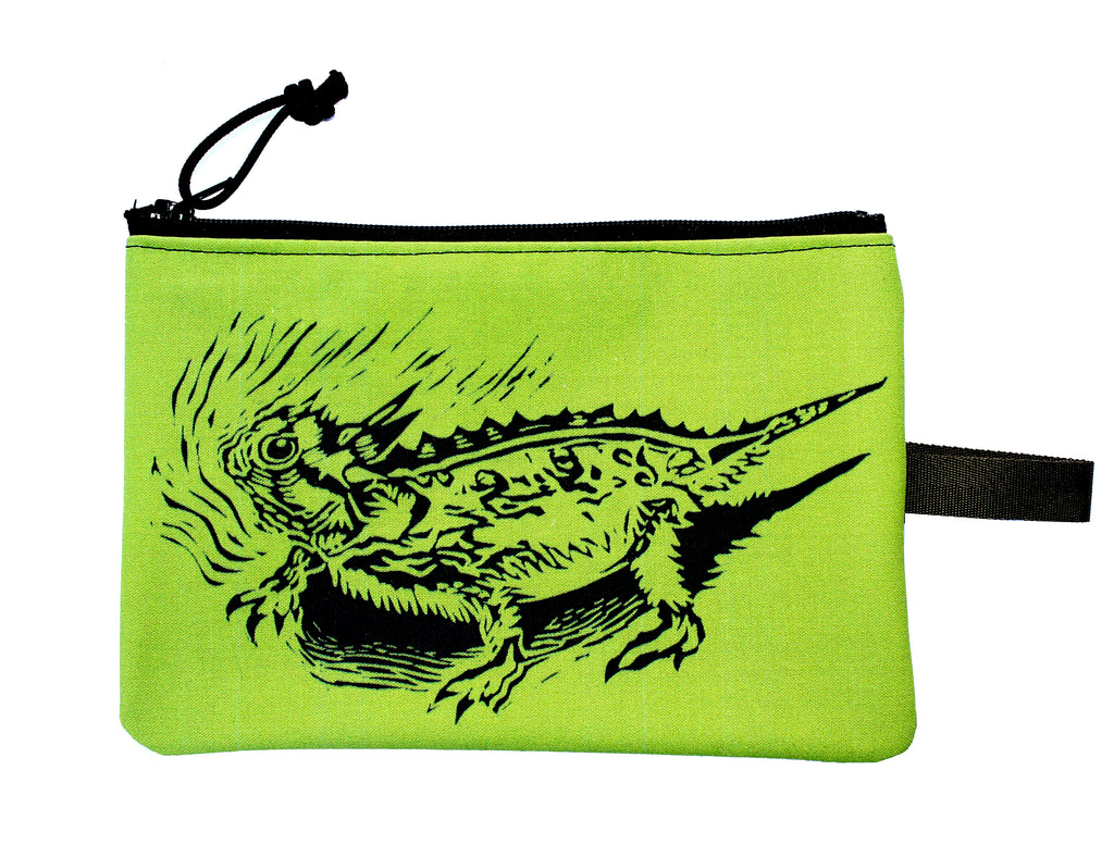 Horned Lizard zipper bag : many colors!