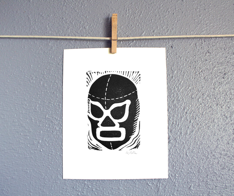 8x10 Luchador right relief print