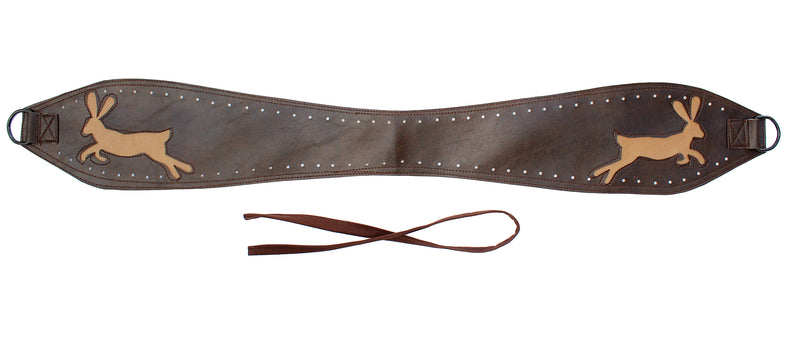 Jackrabbits- tan on dark brown vinyl belt