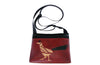 red roadrunner on all bright turquoise sm crossbody