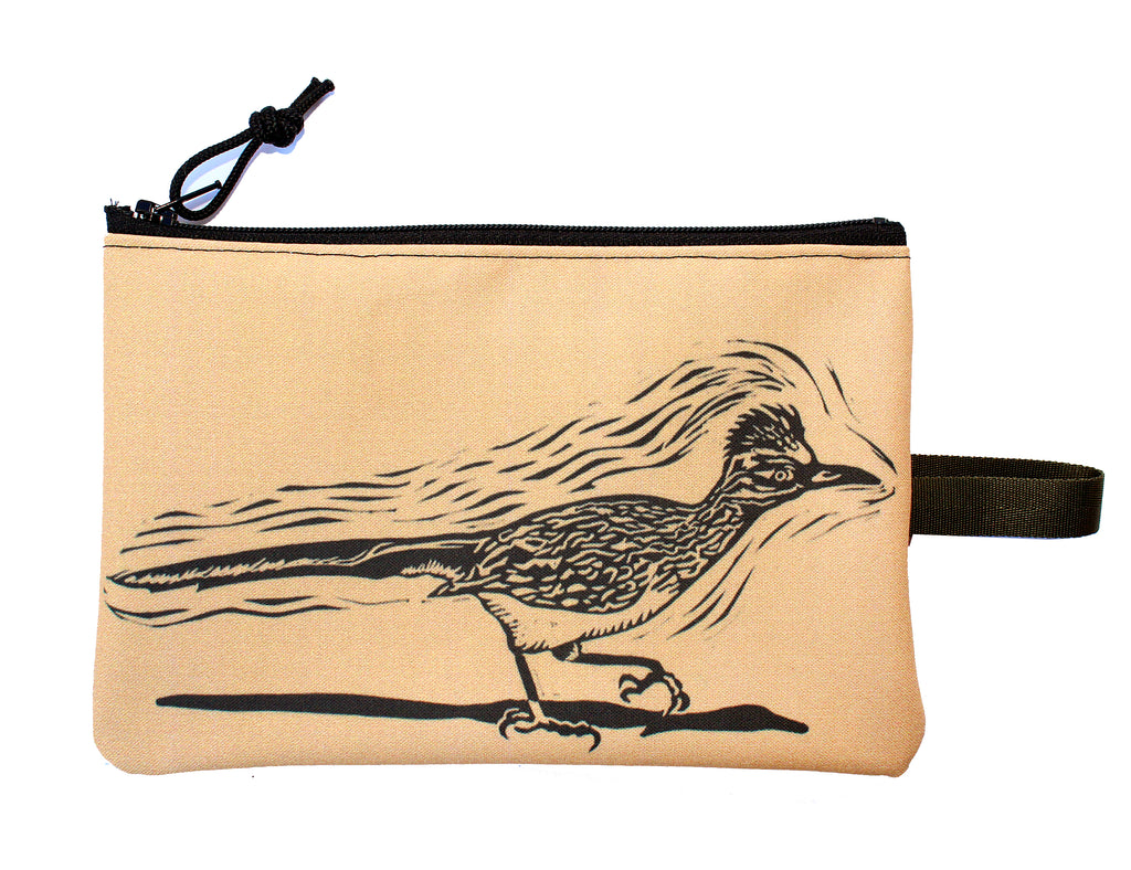 Roadrunner zipper bag : many colors!