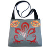 Jackrabbit on blue pattern large bag