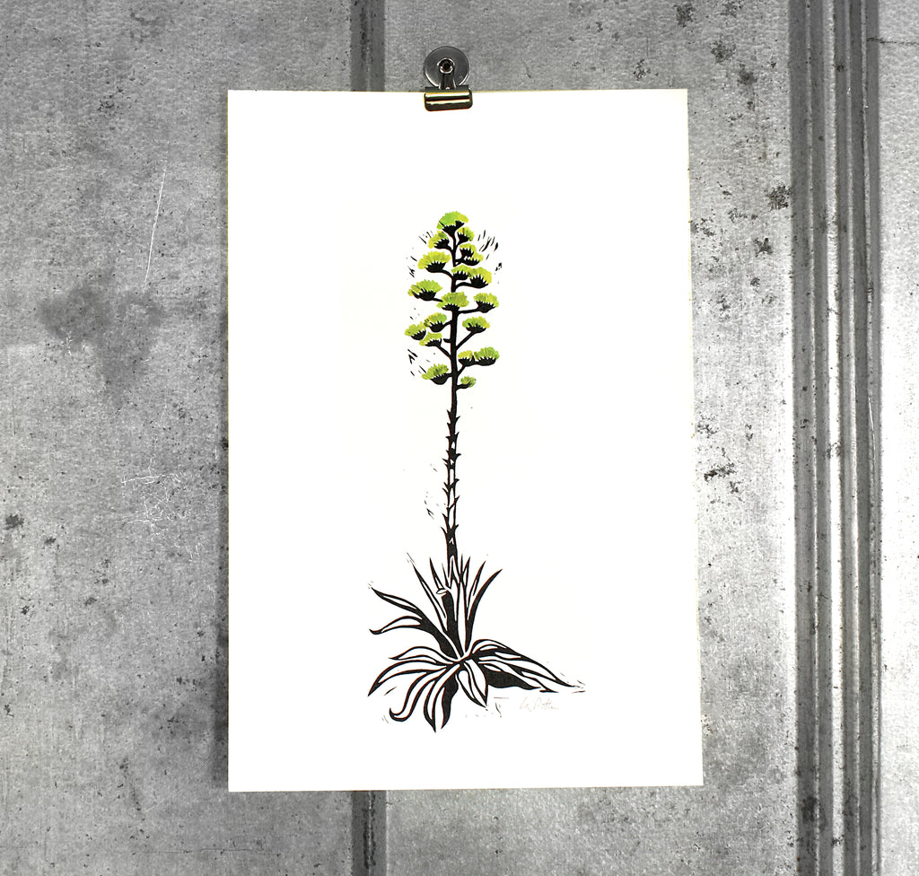 Small Century Plant (green) on 12x18 paper