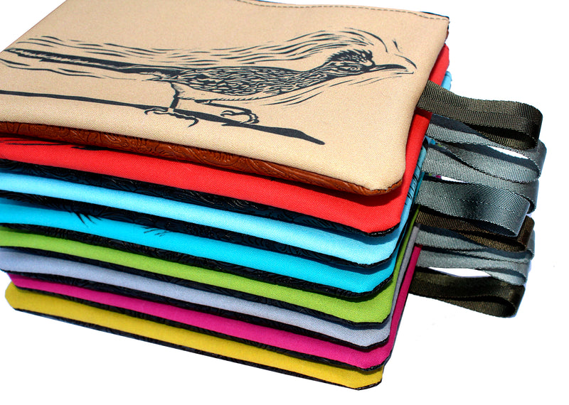 Coyote zipper bag : many colors!
