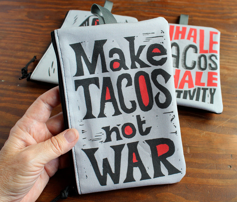 Taco theme zipper bag