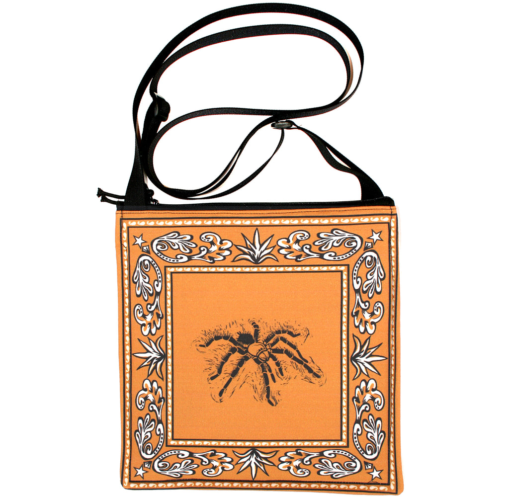 Bandana bag: tarantula on gold