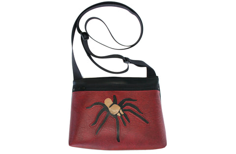 Roadrunner on turquoise small crossbody purse