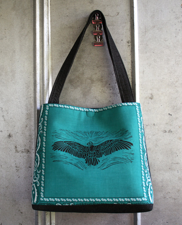 Vulture tote in teal