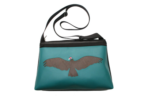 Western vulture on turquoise vinyl