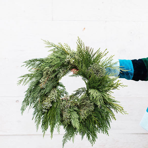 Cedar & Juniper Wreath-20 inch