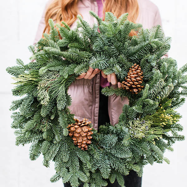 Mixed Noble Wreath-24 inch
