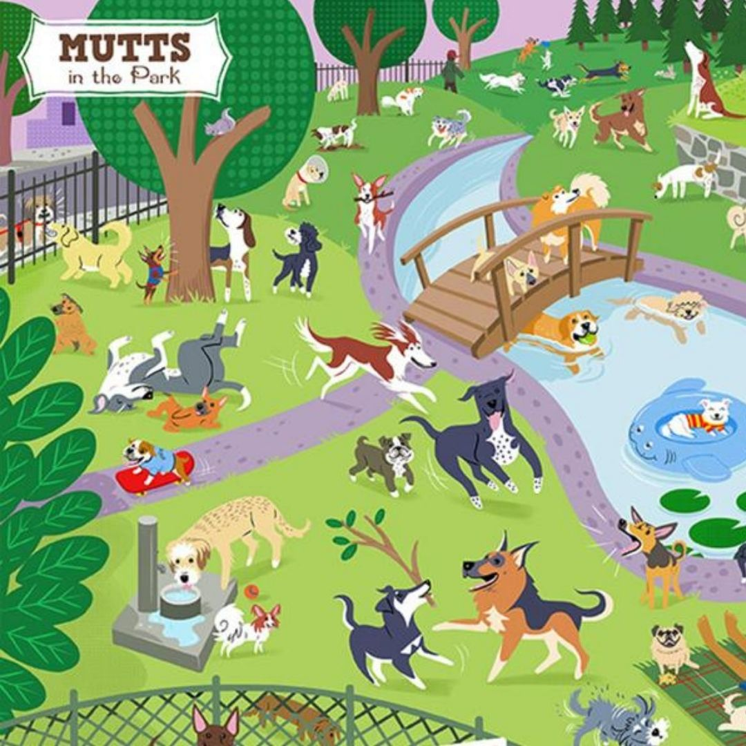 Animals & Kids-Mutts in the Park