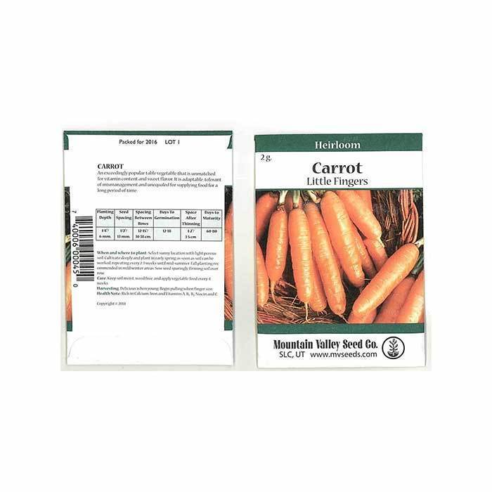 Seeds-Carrots, 'Little Finger'