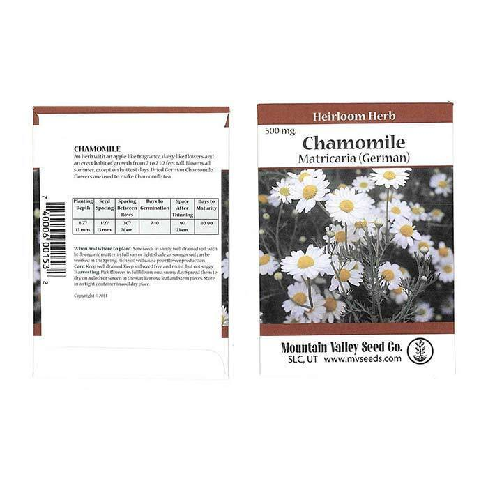 Seeds-Herbs, Chamomile 'Matricaria (German)'