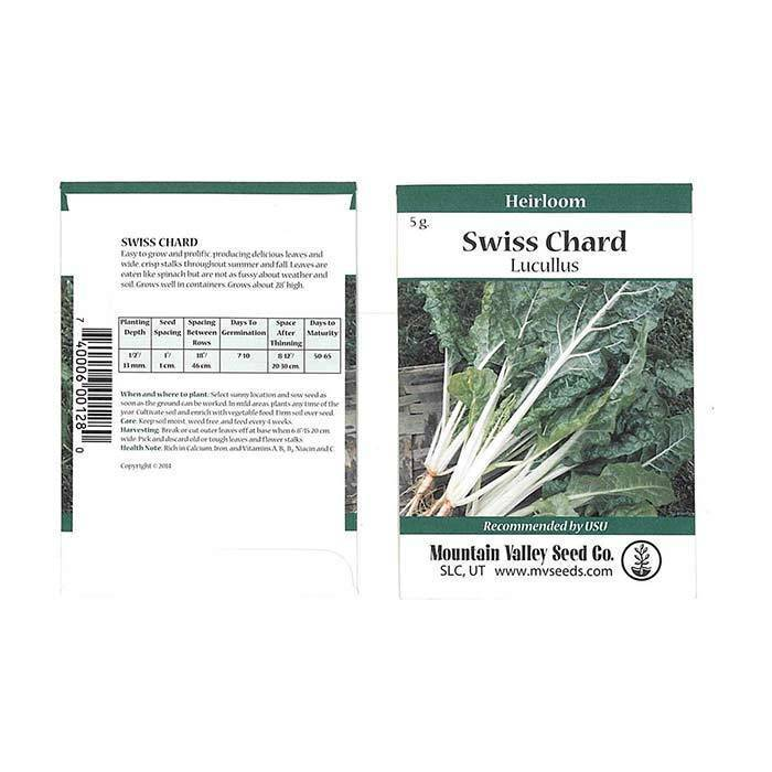 Seeds- Swiss Chard, 'Lucullus'