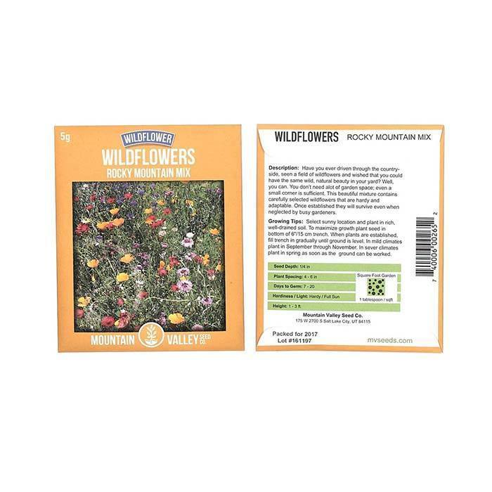Wildflower Seeds - Wildflowers 'Rocky Mountain Mix'
