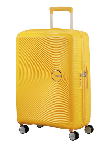 American tourister Curio (Yellow 69 CM Spinner) - Bag Space Darling Harbour