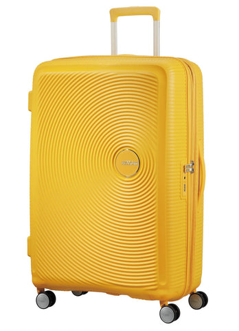 American tourister Curio (Yellow 80 CM Spinner) - Bag Space Darling Harbour