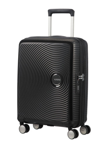 American tourister Curio (Black 55CM Spinner) - Bag Space Darling Harbour