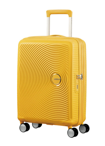 American tourister Curio (Yellow 55 CM Spinner) - Bag Space Darling Harbour