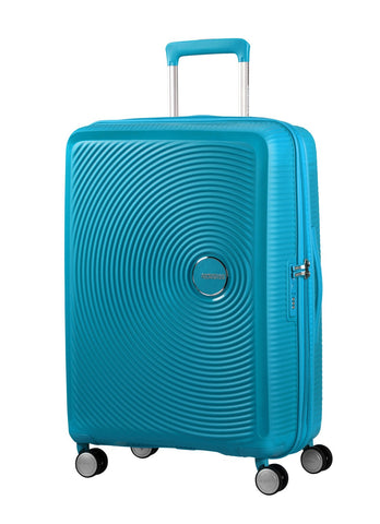 American tourister Curio (Turquoise 55CM Spinner) - Bag Space Darling Harbour