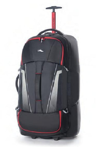 HIGH SIERRA 84CM Composite WHEELED DUFFLE V3 WS (Black/Red) - bag space Darling Harbour