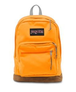 JanSport Rightpack Backpack (Orange Gold) - bag space Cherrybrook