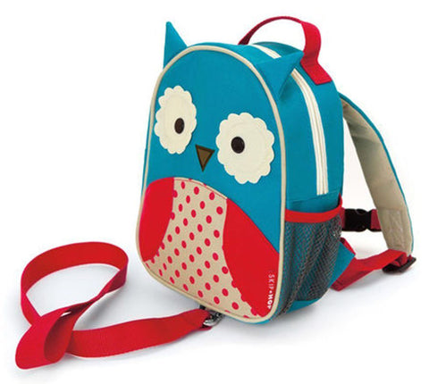 SKIP HOP ZOO-LET Mini Backpack With Rein (Owl) - bag space Darling Harbour