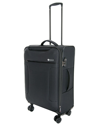TOSCA SO LITE 3.0 25″ TROLLEY CASE (Black) - bag space Darling Harbour